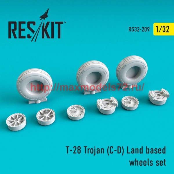 RS32-0209   T-28 Trojan (C-D) Land based wheels set (thumb51881)