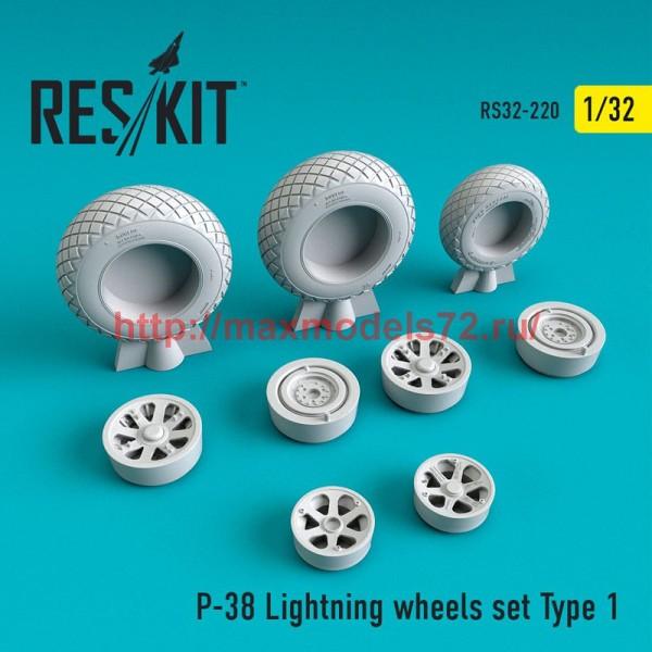 RS32-0220   P-38 Lightning wheels set Type 1 (thumb51885)