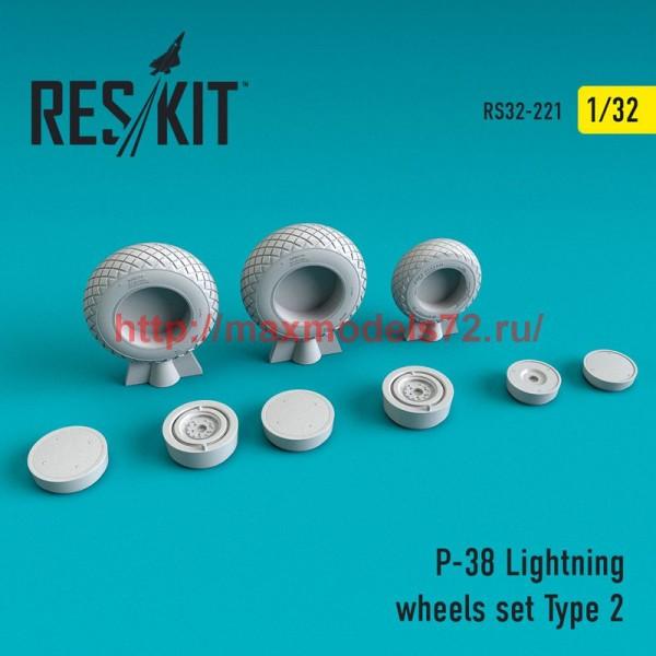 RS32-0221   P-38 Lightning wheels set Type 2 (thumb51887)