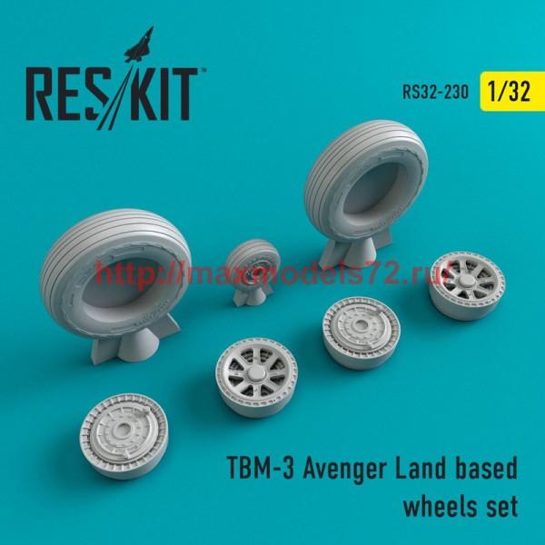 RS32-0230   TBM-3 Avenger Land based wheels set (thumb51889)