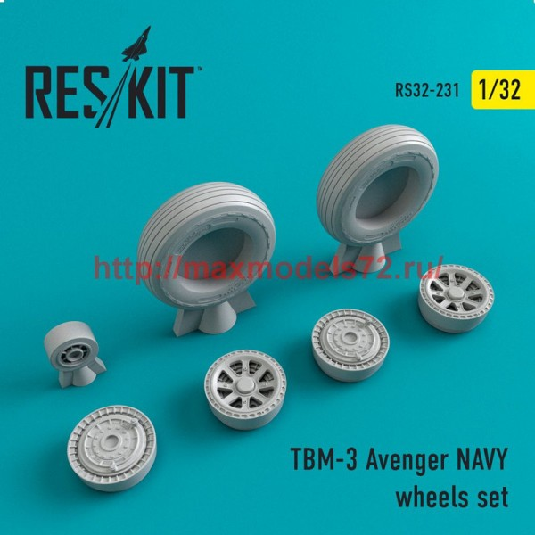 RS32-0231   TBM-3 Avenger NAVY wheels set (thumb51891)