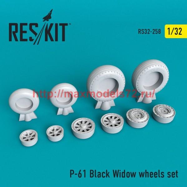 RS32-0258   P-61 Black Widow wheels set (thumb51903)