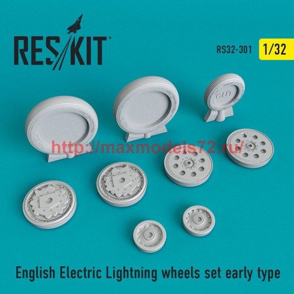 RS32-0301   English Electric Lightning Wheels set early type (thumb51909)
