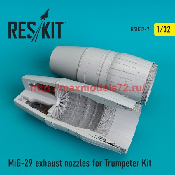 RSU32-0007   MiG-29 exhaust nozzles for Trumpeter Kit (thumb51913)
