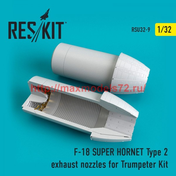 RSU32-0009   F-18 (E/G) SUPER HORNET Type 2 exhaust nozzles for Trumpeter Kit (thumb51917)