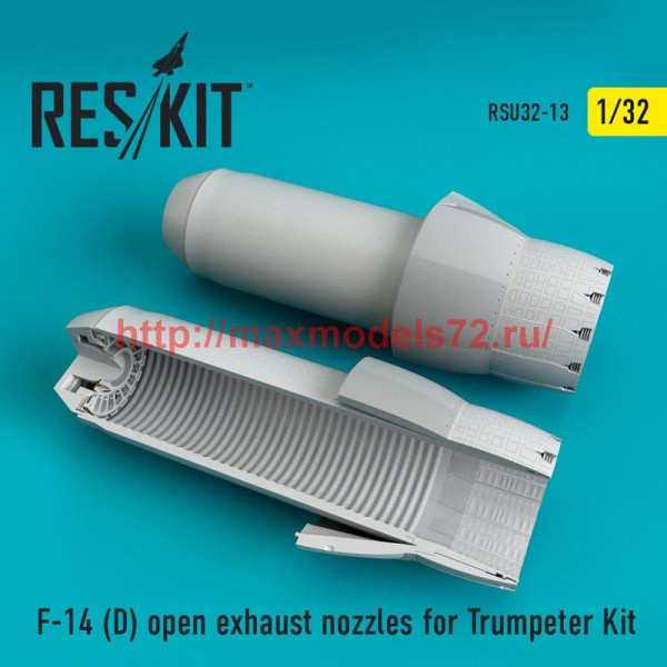 RSU32-0013   F-14 (D) open exhaust nozzles for Trumpeter Kit (thumb51921)