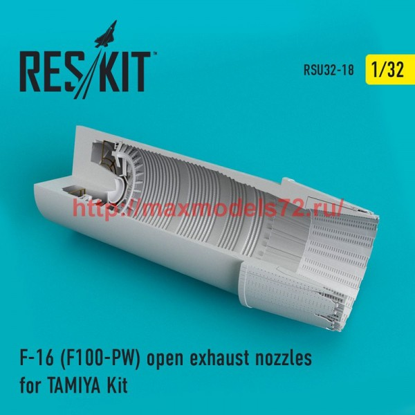 RSU32-0018   F-16 (F100-PW) open exhaust nozzles for TAMIYA Kit (thumb51927)
