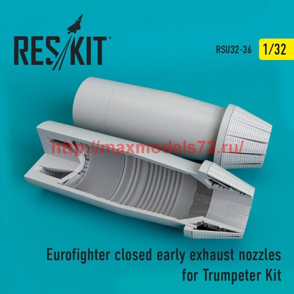 RSU32-0036   Eurofighter closed (early type) exhaust nozzles  for  Trumpeter Kit (thumb51933)