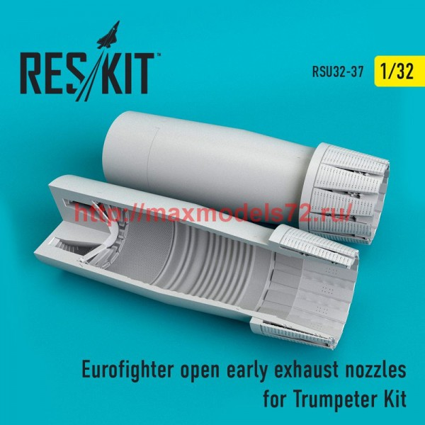 RSU32-0037   Eurofighter open (early type) exhaust nozzles for Trumpeter Kit (thumb51935)