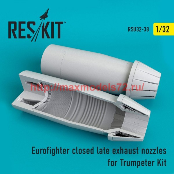 RSU32-0038   Eurofighter closed (late type) exhaust nozzles for  Trumpeter Kit (thumb51937)