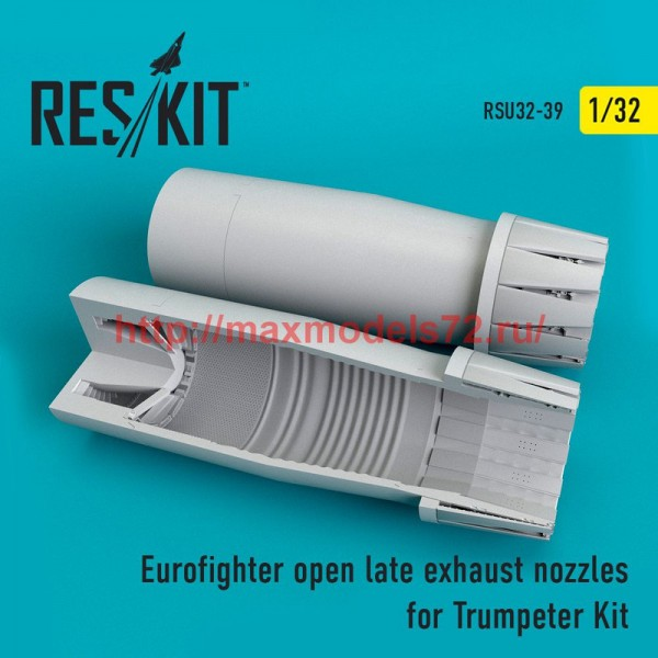 RSU32-0039   Eurofighter open (late type) exhaust nozzles for Trumpeter Kit (thumb51939)
