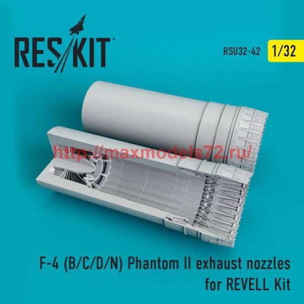 RSU32-0042   F-4 (B/C/D/N) Phantom II exhaust nozzles for REVELL Kit (thumb51945)