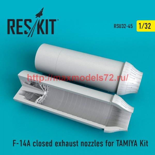 RSU32-0045   F-14A closed exhaust nozzles for TAMIYA Kit (thumb51951)