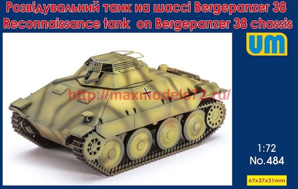 UM484   Reconnaissance tank on Bergepanzerwagen 38 chassis (thumb51584)