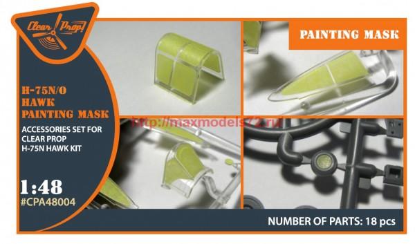 "CPA48004   Hawk H-75 N/O  for CP kit painting mask ""yellow kabuki paper"" (thumb56400)"