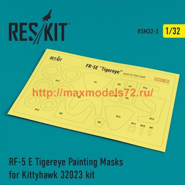 RSM32-0003   RF-5 E Tigereye Painting Masks for Kittyhawk 32023 kit (thumb52514)