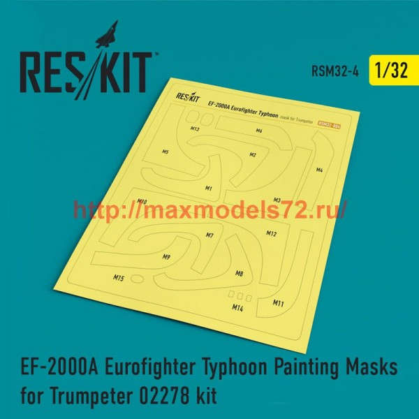 RSM32-0004   EF-2000A Eurofighter Typhoon Painting Masks for Trumpeter 02278 kit (thumb52516)