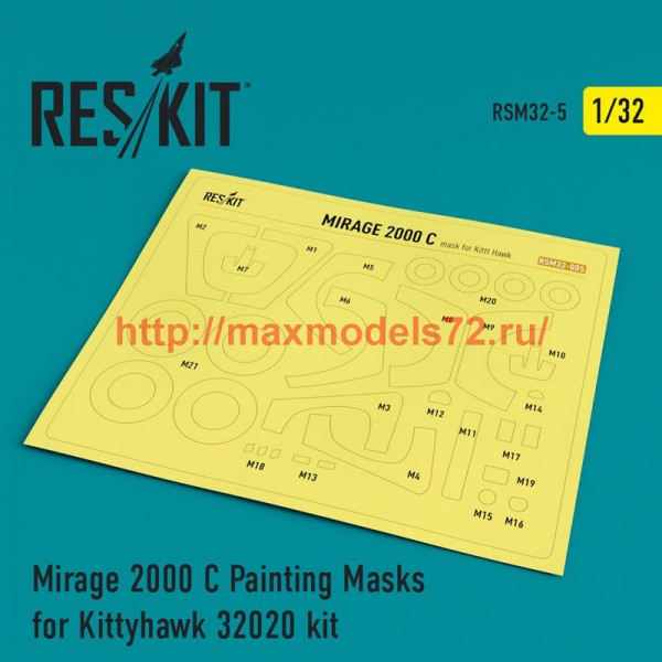 RSM32-0005   Mirage 2000 C Painting Masks for Kittyhawk 32020 kit (thumb52518)