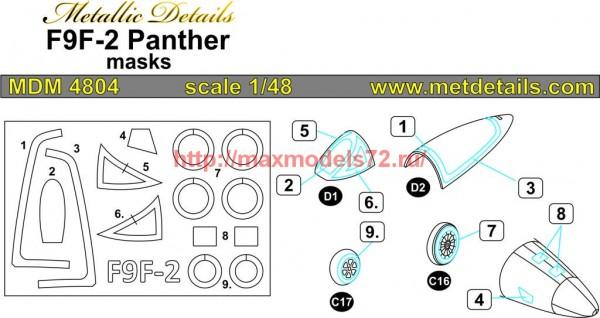 MDM4804   F9F-2 Panther. Masks (Trumpeter) (thumb56043)