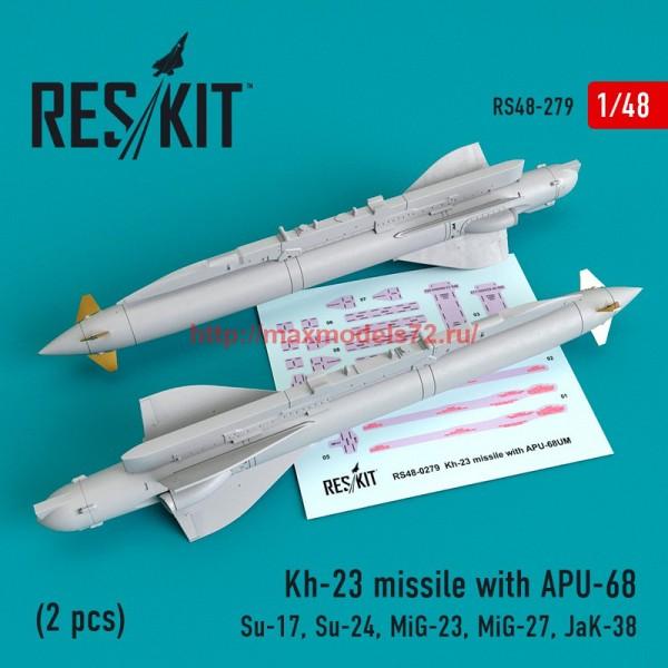 RS48-0279   Kh-23 missile with APU-68 (2 pcs) (Su-17, Su-24, Mig-23, Mig-27, JaK-38) (thumb55757)