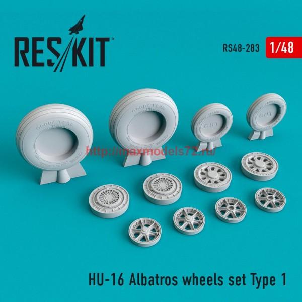 RS48-0283   HU-16 Albatros wheels set Type 1 (thumb55765)