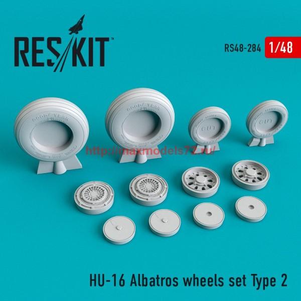 RS48-0284   HU-16 Albatros wheels set Type 2 (thumb55767)