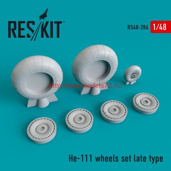 RS48-0286   He-111 wheels set late type (thumb55771)
