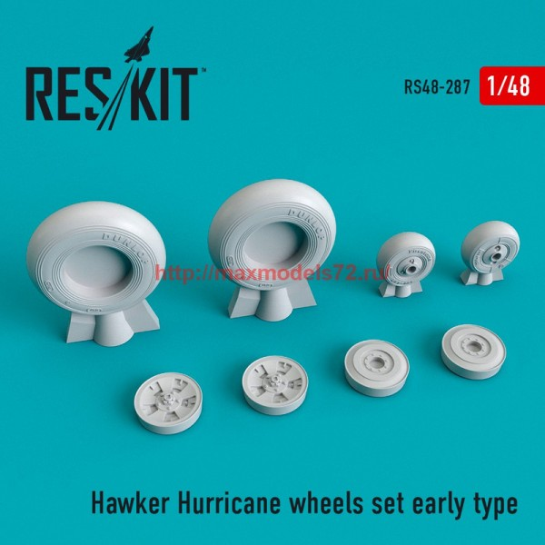 RS48-0287   Hawker Hurricane wheels set early type (thumb55773)