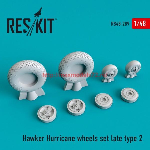 RS48-0289   Hawker Hurricane wheels set late type 2 (thumb55777)