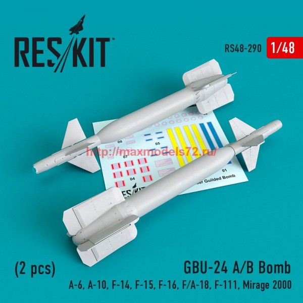 RS48-0290   GBU-24 (A-B) Bomb (2 pcs))(A-6, A-10, F-14, F-15, F-16, F/A-18, F-111, Mirage 2000) (thumb55779)