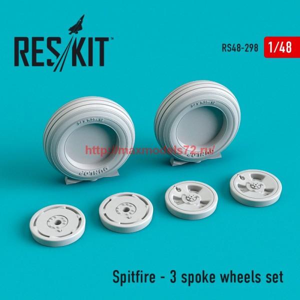 RS48-0298   Spitfire - 3 spoke wheels set (thumb55795)