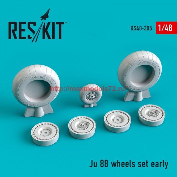 RS48-0305   Ju 88 wheels set early type (thumb55805)