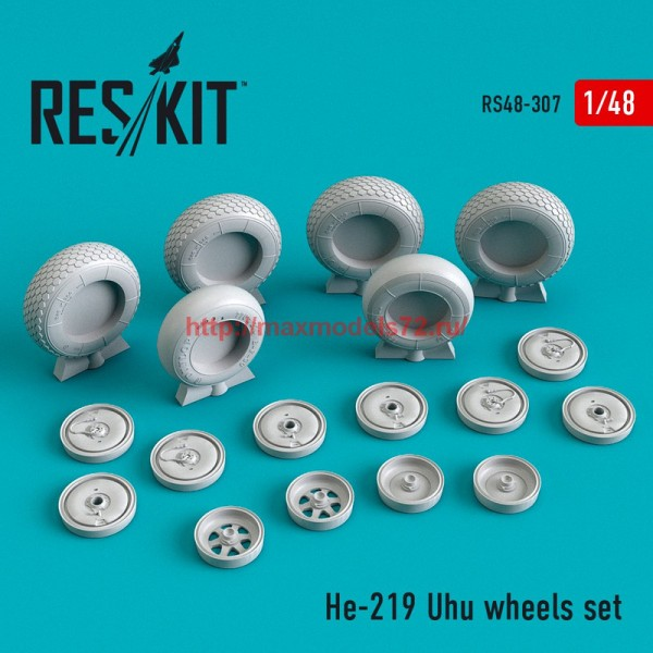 RS48-0307   He-219 Uhu wheels set (thumb55809)