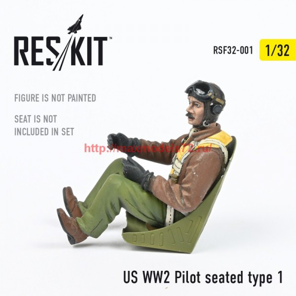 RSF32-0001   US WW2 Pilot seated type 1 (thumb55745)