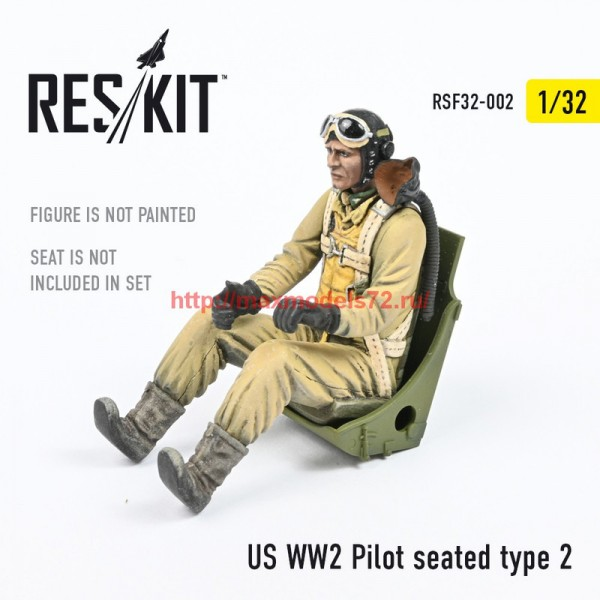 RSF32-0002   US WW2 Pilot seated type 2 (thumb55747)