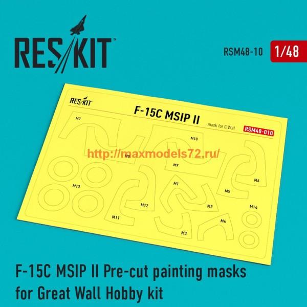 RSM48-0010   F-15 MSIP ll Pre-cut painting masks for Great Wall Hobby (L4817) kit (thumb55861)