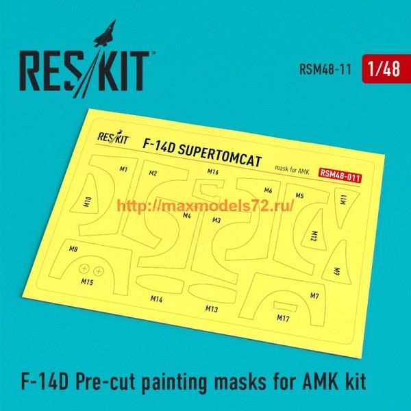 RSM48-0011   F-14D Pre-cut painting masks for AMK Kit (thumb55863)
