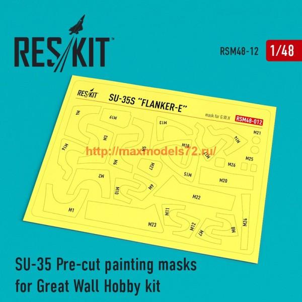 RSM48-0012   Su-35 Pre-cut painting masks for Great Wall Hobby kit (thumb55865)