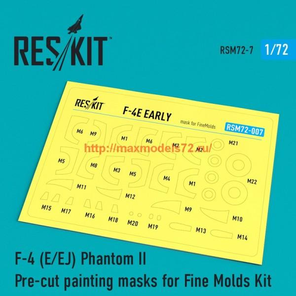 RSM72-0007   F-4 (E/EJ) Phantom II Pre-cut painting masks for Fine Molds Kit (thumb55873)