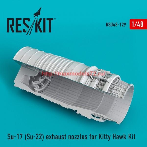 RSU48-0129   Su-17 (Su-22) exhaust nozzles for Kitty Hawk Kit (thumb55821)