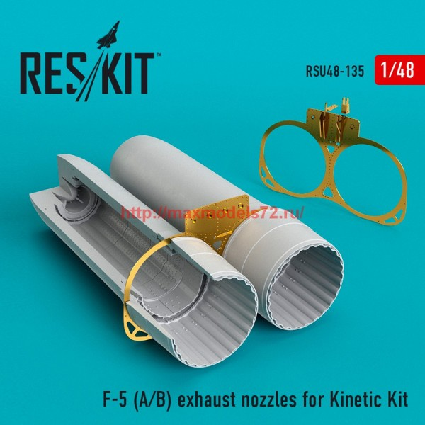 RSU48-0135   F-5 (A/B) exhaust nozzles for Kinetic Kit (thumb55825)