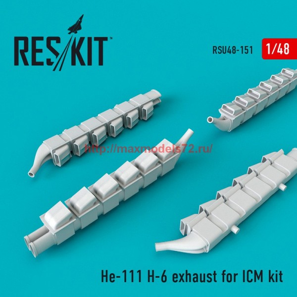 RSU48-0151   He-111 H-6 exhaust nozzles for ICM (thumb55831)