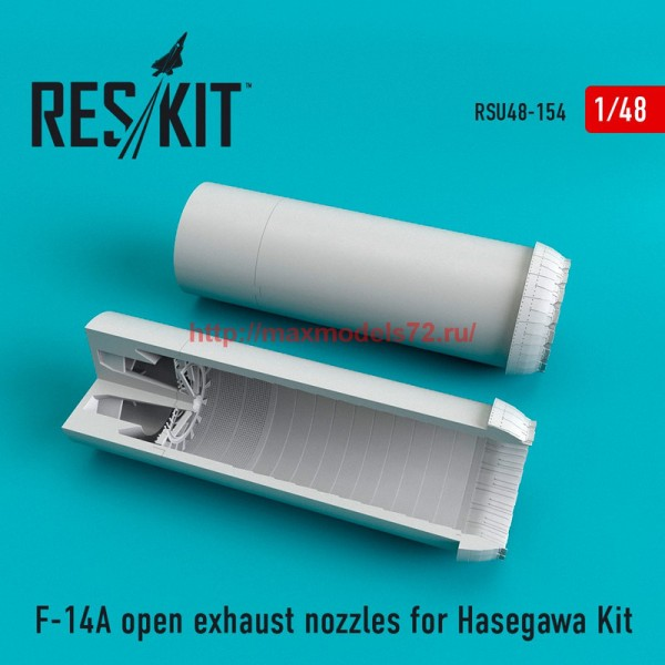 RSU48-0154   F-14A open exhaust nozzles for Hasegawa Kit (thumb55835)