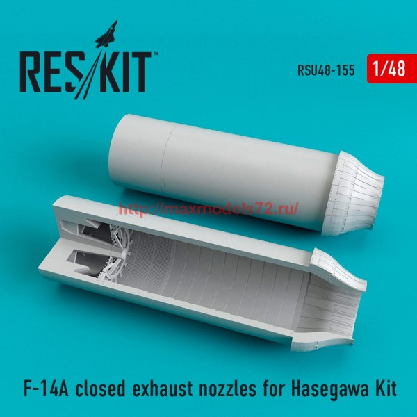 RSU48-0155   F-14A closed exhaust nozzles for Hasegawa Kit (thumb55837)