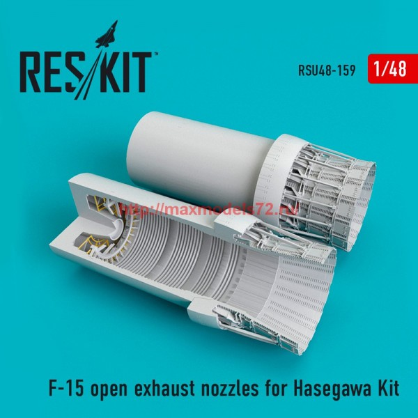 RSU48-0159   F-15 open exhaust nozzles for Hasegawa Kit (thumb55845)